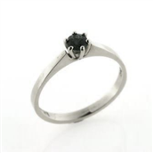 Ring solitaire 925s syn sten 4,0 mm