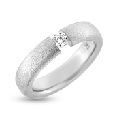 Ring flying diamond, 0,15 w/vs. 14 kt. hvg.