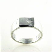 Ring m. plade 925s (7,5*9,5)