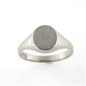 Ring, Signetring oval plade 11*9,5 mm 925s