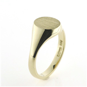 Ring, Signetring oval plade 11*9,5 mm 8 kt.