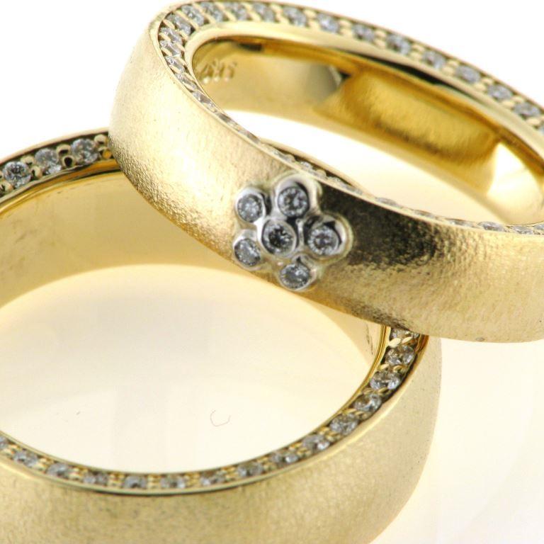 3a2e9aafcc5 1 par vielsesringe / forlovelse ringe 14 kt. rosa guld