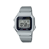 CASIO CLASSIC Basic (3454) digital ur stål lænke sort skive