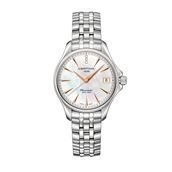 Certina DS Action dameur, stållænke, perlemor skive, dato, safirglas, 0,007 ct, 34 mm