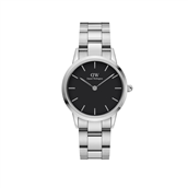 Daniel Wellington Iconic Link 40mm sølv sort urskive