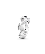 Georg Jensen Fusion ring 18 kt hg midte 8 brill 0,16ct str 48-66