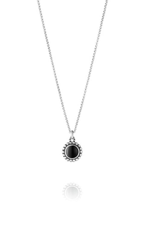 f804cc270b9 Georg Jensen Moonlight Blossom vedhæng sølv sort agat kæde 45cm