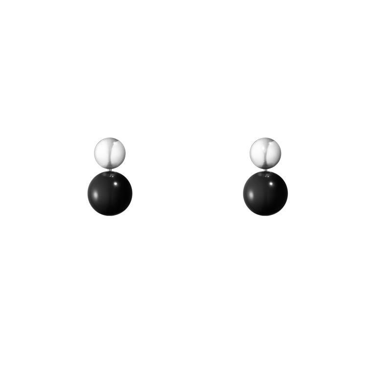 b77d6666ab0 Georg Jensen ørering Moonlight Grapes Drop 551C sølv onyx