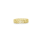 ID Fine Jewelry Curb Chain Small ring sølv forgyldt