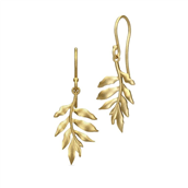 Julie Sandlau øreringe Classic Little Tree Of Life sølv forgyldt