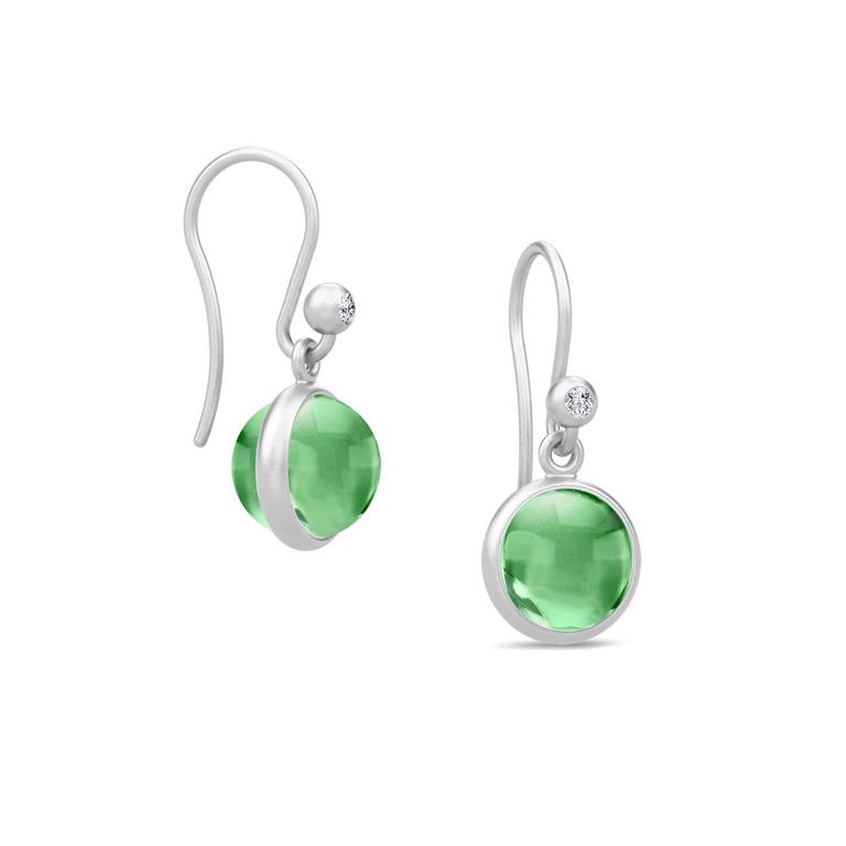 444348bcee0 Julie Sandlau Primini øreringe sølv rhodineret med grønne krystaller