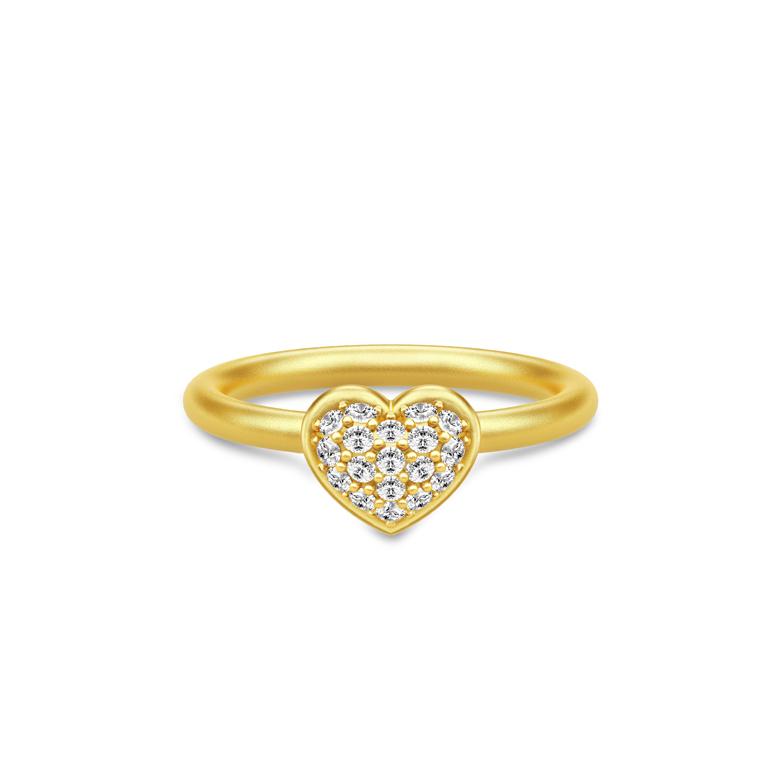 88c1b24df9e Julie Sandlau Pure Heart ring forgyldt sølv