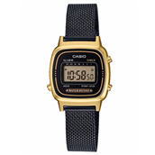 CASIO Classic (3191) unisex ur sort lænke stål double digital 24mm