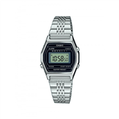 CASIO CLASSIC (3191) stål lænke digital display 27mm mineralglas