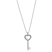 PANDORA Floating Locket Heart Key halskæde 396581CZ-80