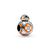 Pandora Star Wars BB8, sølv, orange + sort emalje