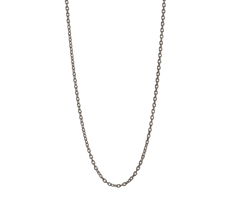 9d9f702c Pernille Corydon, ankerkæde sølv oxyderet lang 62-70 cm., justérbar