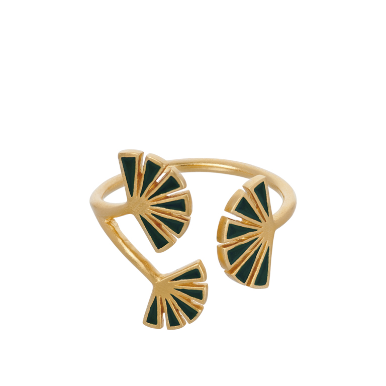 9d9c02ab6a6 Pernille Corydon Flare green ring r-592-gp
