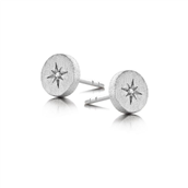 Spirit Icons ørestik North Star sølv med diamant