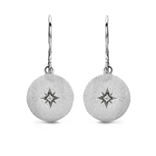 Spirit Icons ørehænger North Star sølv 2x0,01 ct w/vs