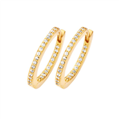 Spirit Icons creol PASSION lille sølv forgyldt cz