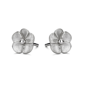 Spirit Icons ørestik Bloom sølv