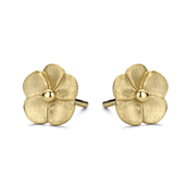 Spirit Icons ørestik Bloom sølv forgyldt