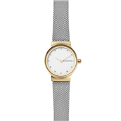 Skagen Designs Dameur stål 26mm bi-colour, mesh, 12 krystaller