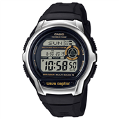 CASIO WAVECEPTOR (3456) digital herre ur sort plastik rem 44mm