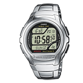 CASIO WAVECEPTOR RC (3053) digital herreur stål lænke 43mm